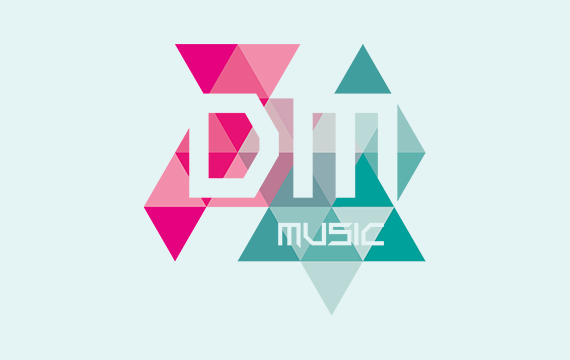 vormgeving logo groningen dmmusic