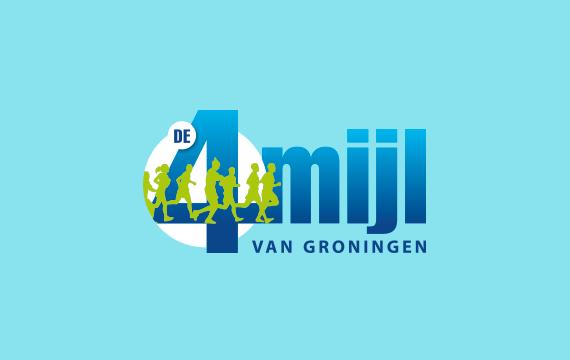 vormgeving logo groningen 4mijl