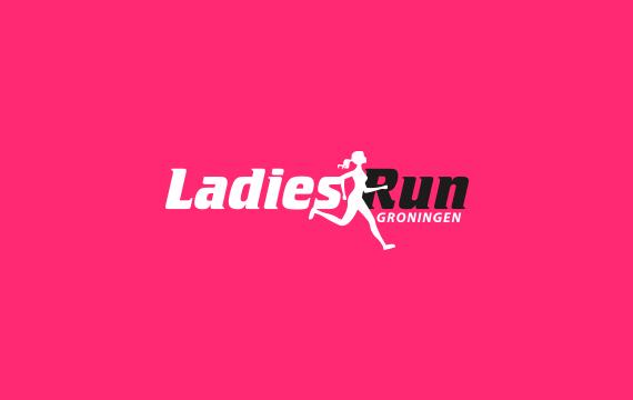 vormgeving logo groningen ladiesrun