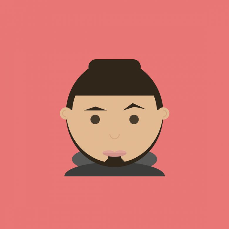 afrojack icon flat design